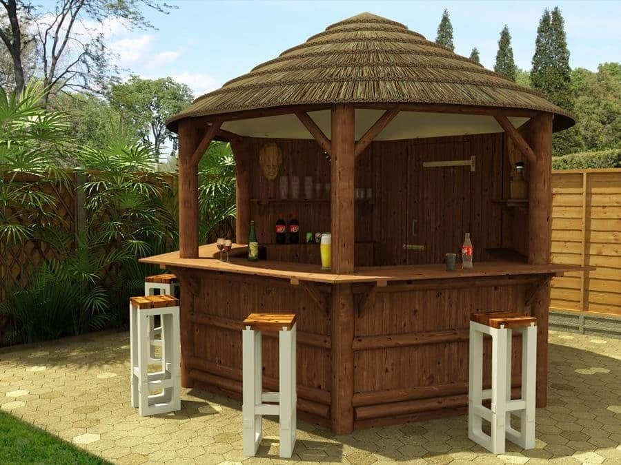 5 ideas for your pinehaven garden shelter sheds and shelters for Bar exterieur en bois