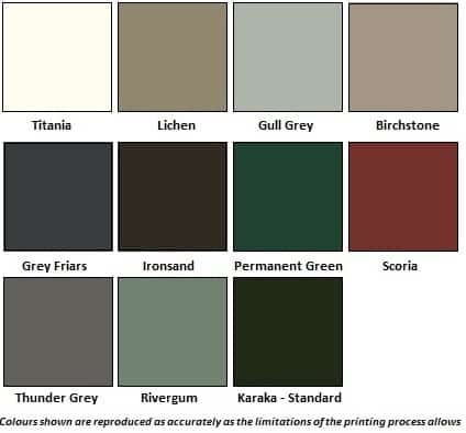 Cedar Colour Chart