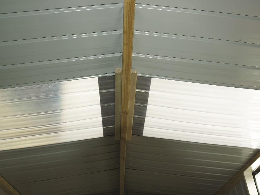 Clear roof panel - smart store